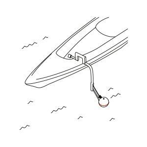 jak podłączyć deeper CHIRP+ do łodzi lub kajaka