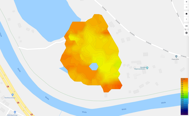 mapa batymetryczna lakebook lowiska h2o kiczyce