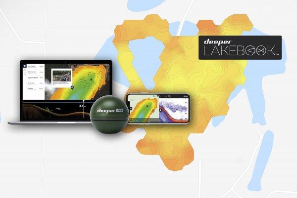 Analizuj swoje mapy batymetryczne zarejestrowane za pomocą Deeper w portalu Lakebook